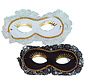 Duo Venetiaans Masker wit/zwart | 2 Venetiaanse Maskers