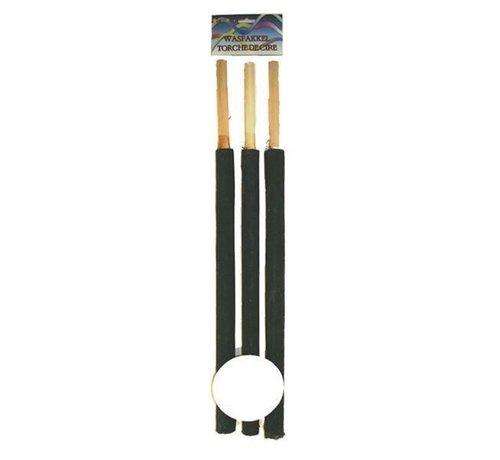 Partyline Torches de lavage 60 cm | 3 pièces de torche