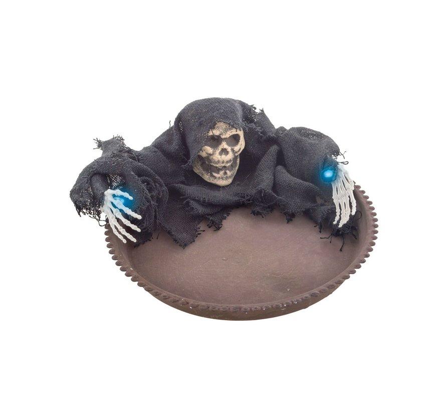 Snoepkom Halloween 22 cm met licht | Halloween decoratie