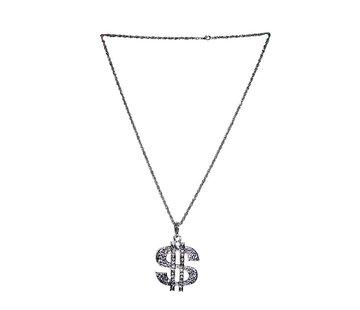 Funny Fashion Deluxe Collier Dollar   Chaîne en argent