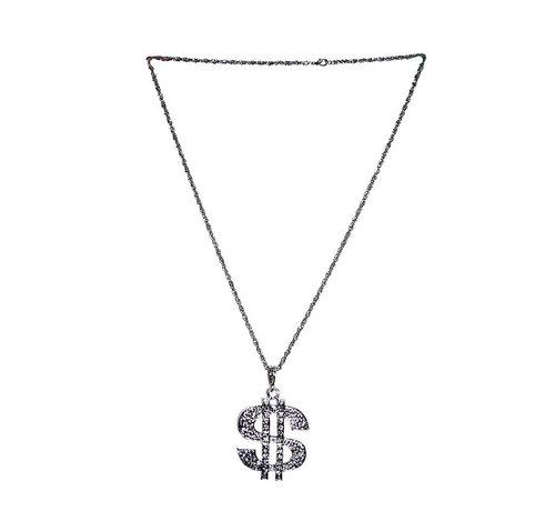 Funny Fashion Halsketting Dollar | Zilver ketting