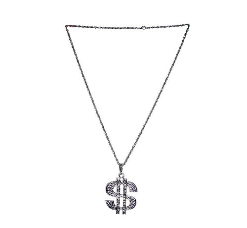 Funny Fashion Necklace Dollar | Silver chain