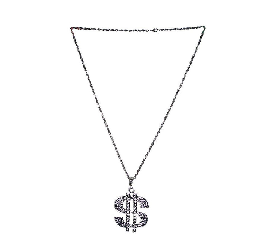 Necklace Dollar   Silver chain