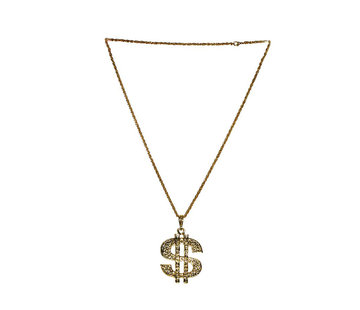 Deluxe Dollar Halsketting Goud | Disco  Dollar Halsketting