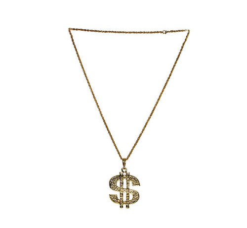 Collier Dollar de Luxe Or | Collier Dollar Disco