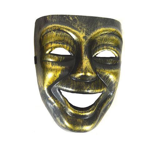 Partyline Venetiaans Masker Man goud  |  Venetiaans Masker