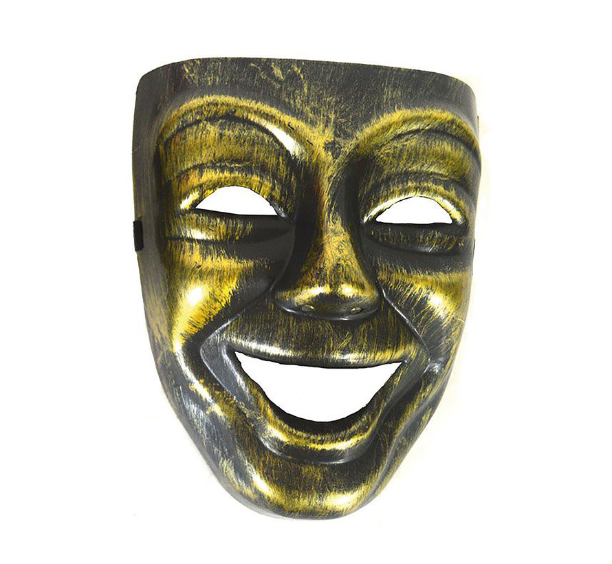 Venetiaans Masker Man goud  |  Venetiaans Masker