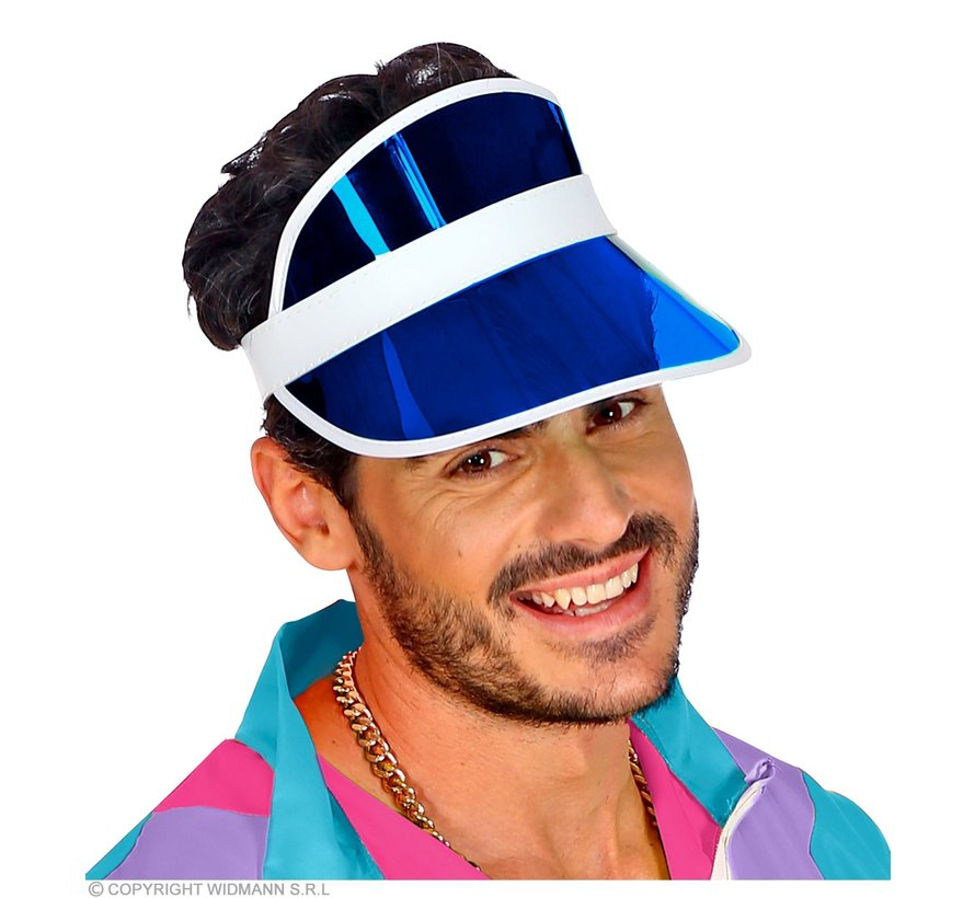 Blue sun visor | Sun visor in 80's style
