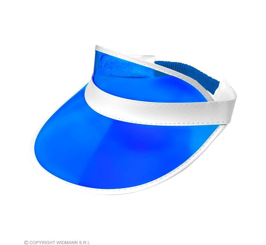 Blauwe zonneklep | Zonneklep in 80's stijl
