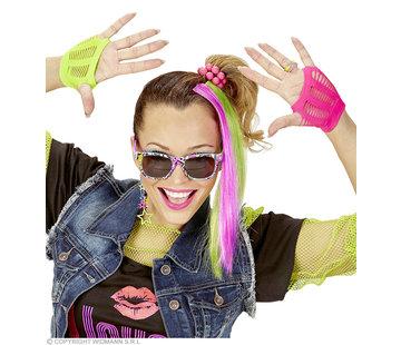Widmann Neon Dress up set accessories | Neon dress up set 80's
