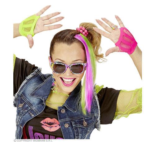 Widmann Neon Verkleedset accessoires | Neon verkleedset 80's