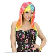 Widmann Perruque de mode néon | Perruque néon femme