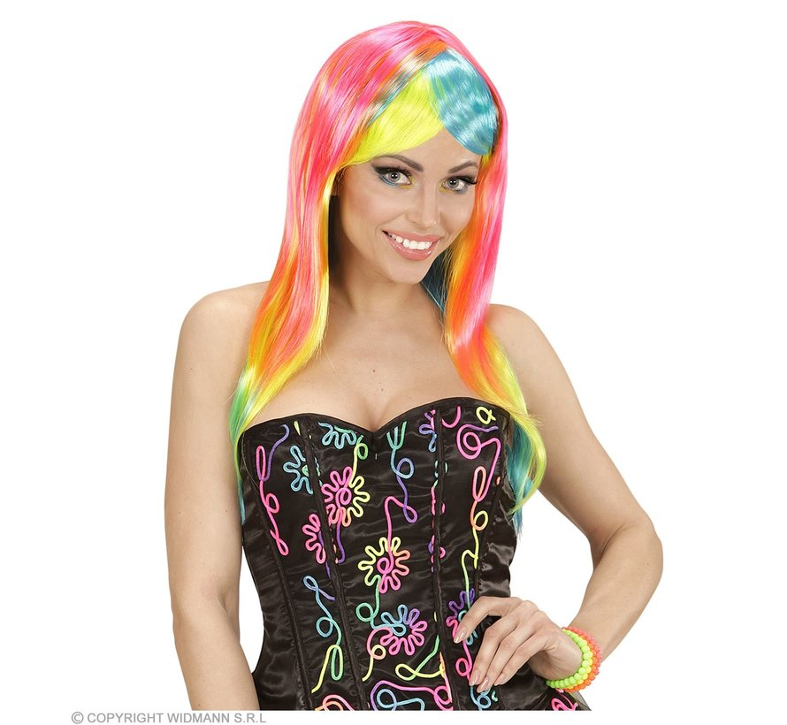 Perruque de mode néon | Perruque néon femme