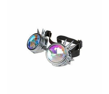 Wicked Costumes  Zilveren Caleidoscoop Bril | Freaky Spike Bril