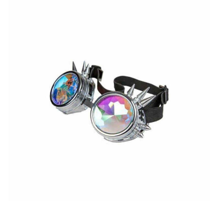 Silver Kaleidoscope Glasses | Freaky Spike Glasses