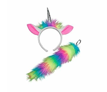 Wicked Costumes  Unicorn Ears & Tail | Rainbow Unicorn Animal Accessories