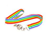 Wicked Costumes  Whistle on Rainbow Lanyard | Rainbow Lanyard And Whistle