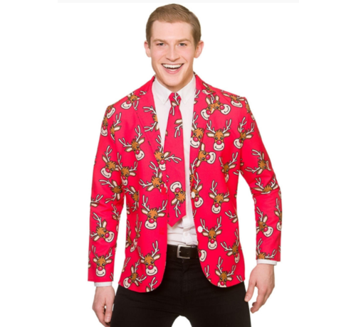Wicked Costumes  Fun Santa Christmas Jacket & Tie | Reindeer jacket