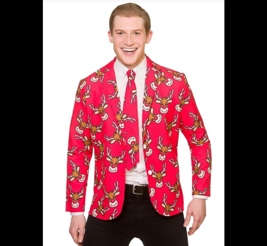 Fun Santa Christmas Jacket & Tie | Reindeer jacket