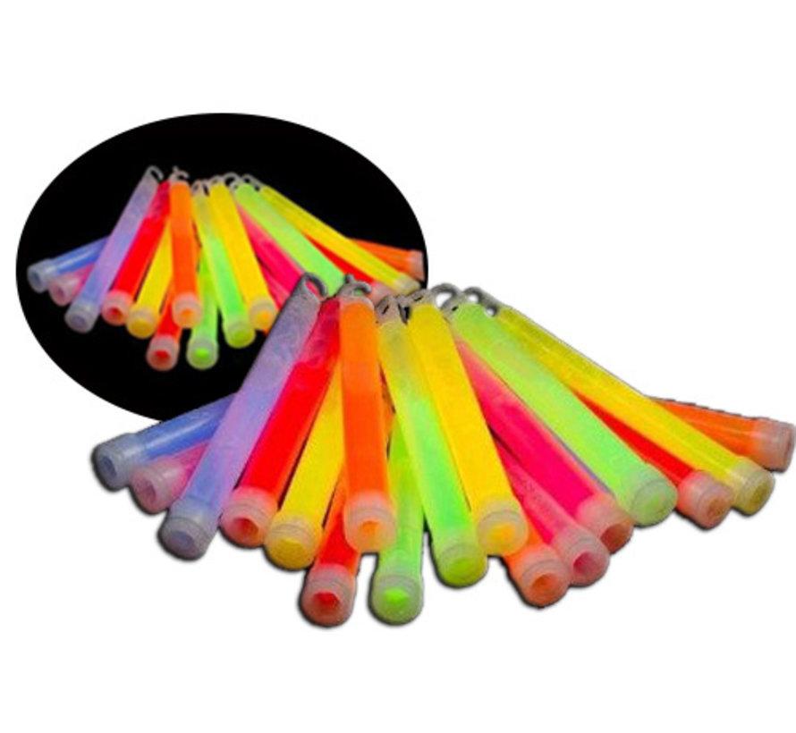 "25 x 6"" Glow Sticks Mixed | Luminous sticks 15 cm x 10 mm"
