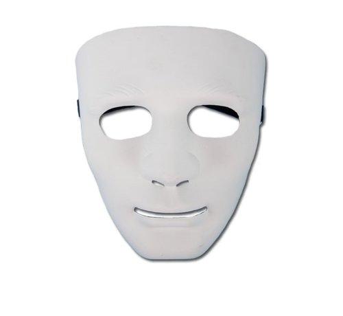 Partyline Masker PVC Wit Man | Eng wit masker