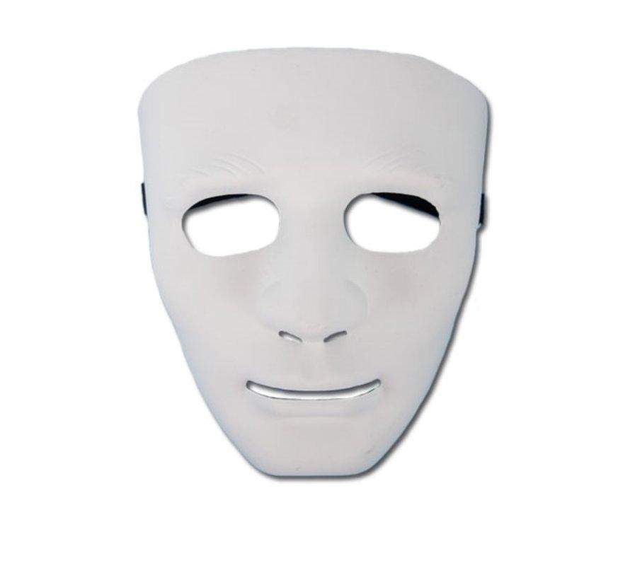 Masker PVC Wit Man | Eng wit masker