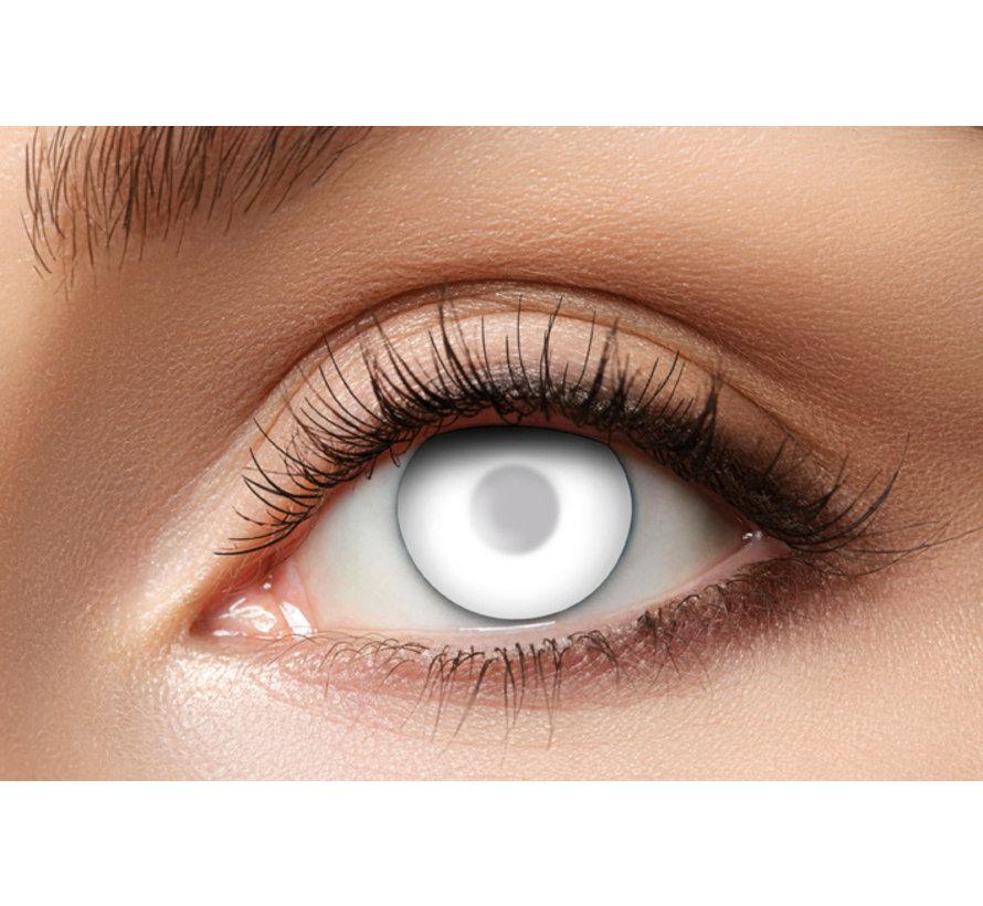 Blind White Zombie Lenses | 40% eyesight - White lenses