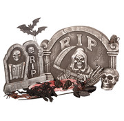 Partyline Halloween 24-piece Tombstone set | Creepy Set | Halloween decoration