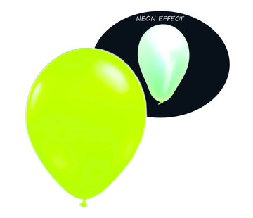 Breaklight.be Ballons vert fluo UV - 100 pièces | Ballons de fête UV
