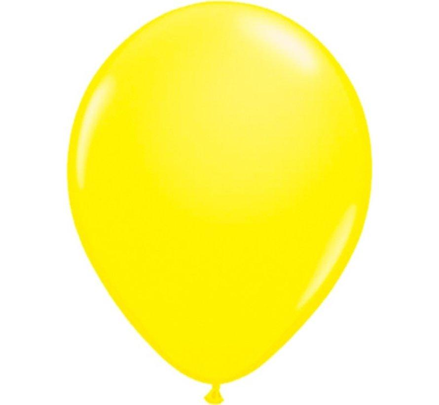 Neon UV yellow balloons - 100 pieces | UV Party Balloons