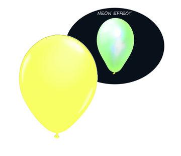 Breaklight.be Neon UV gele  ballonnen  - 100 stuks  | UV Feest Ballonnen