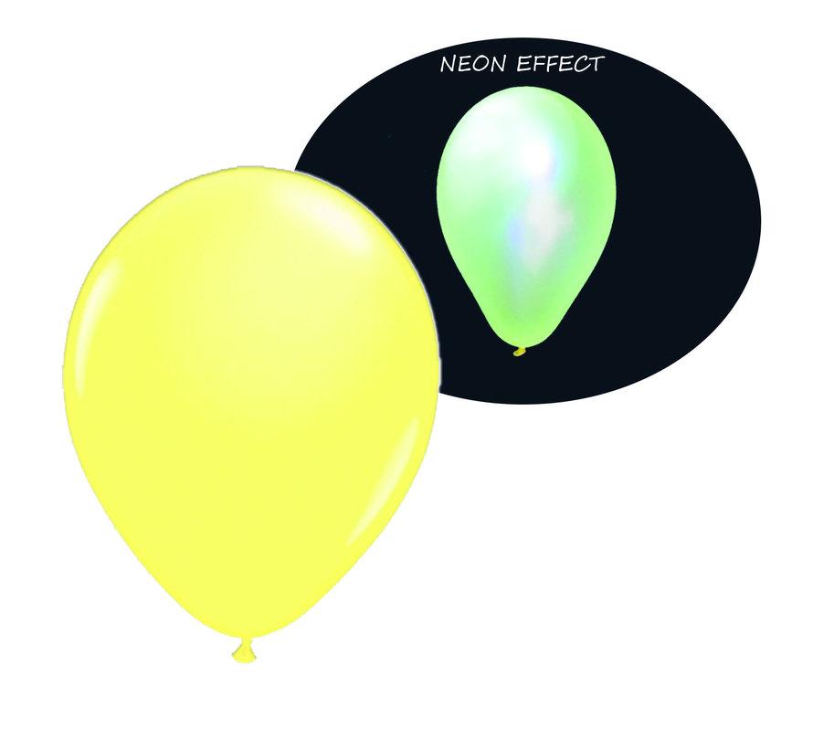 Neon UV gele  ballonnen  - 100 stuks  | UV Feest Ballonnen