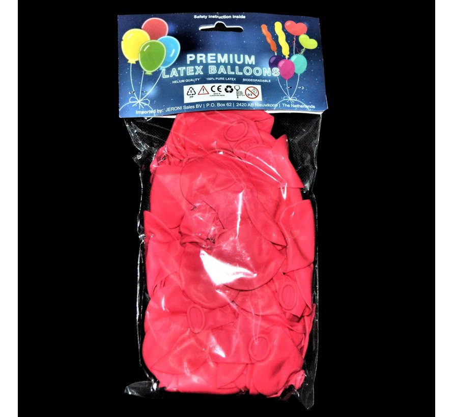 Neon UV pink balloons - 100 pieces | UV Party Balloons