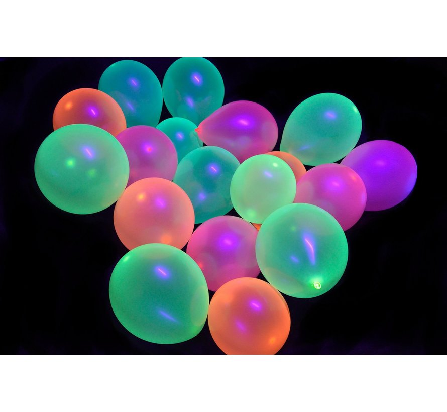 Neon UV red balloons - 100 pieces | UV Party Balloons
