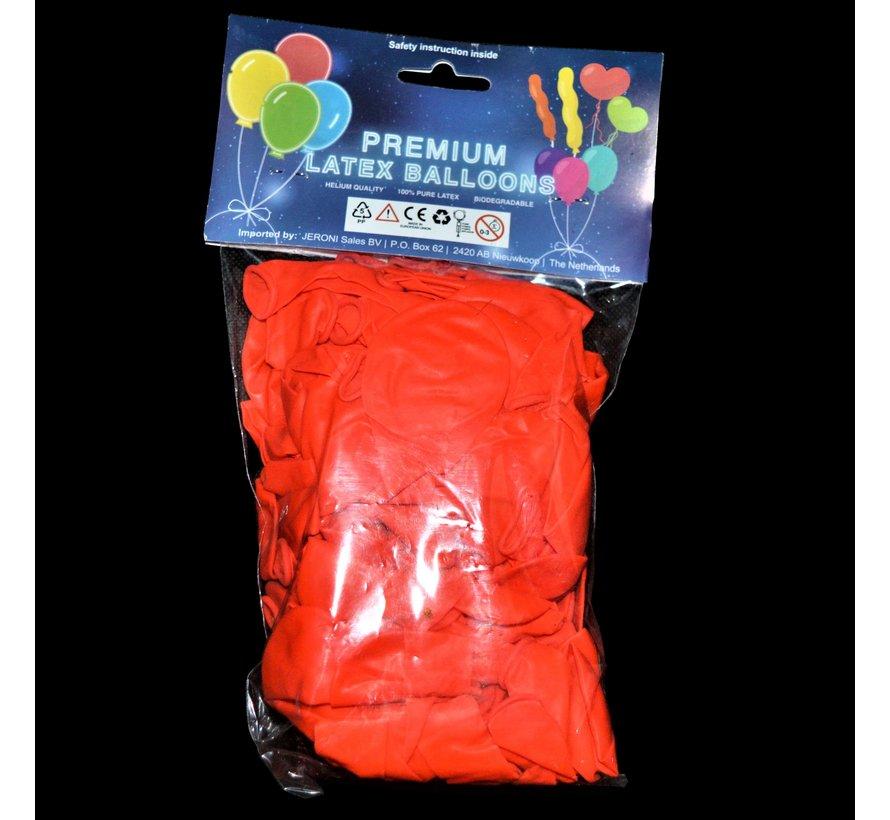 Ballons rouges fluo UV - 100 pièces | Ballons de fête UV
