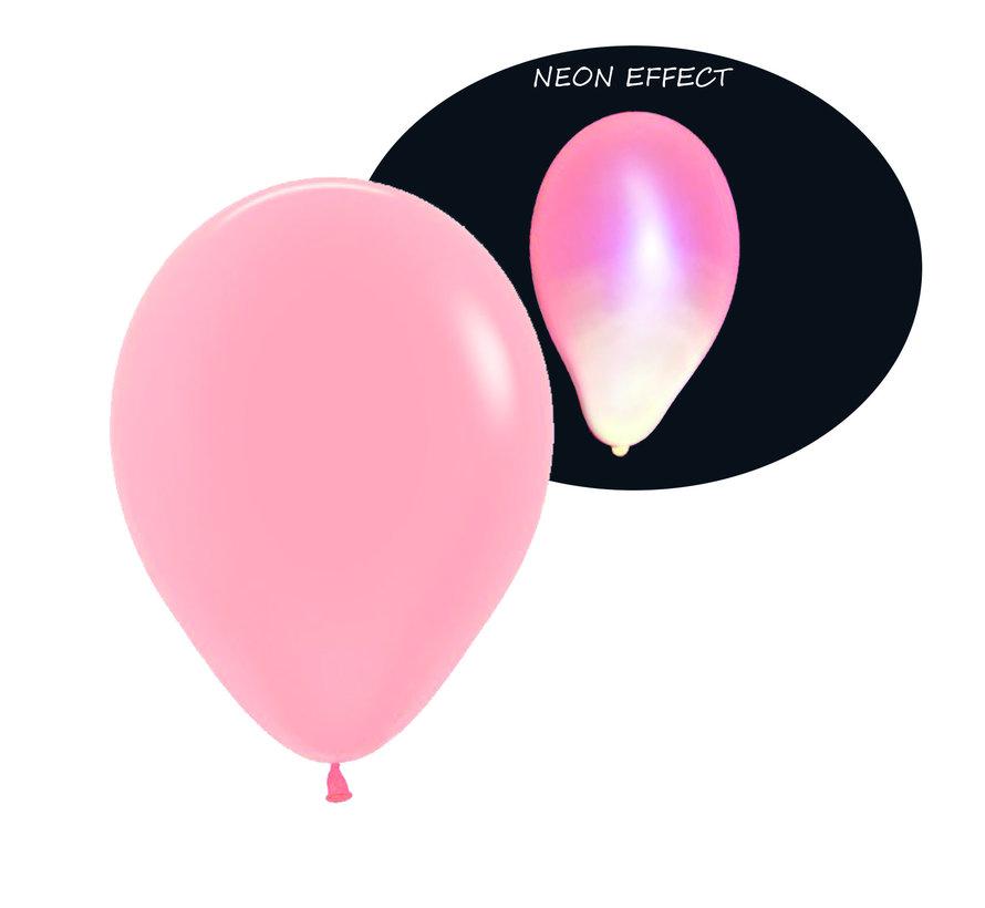 Neon UV rode  ballonnen  - 100 stuks  | UV Feest Ballonnen
