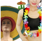 Breaklight.be 12 pieces Summer Party pack | Hawaii garlands | Sombrero
