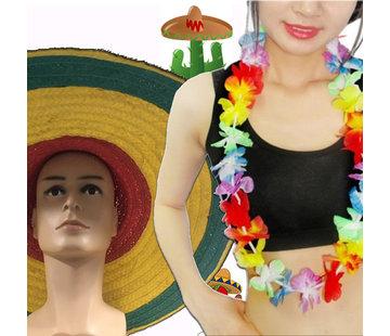 Breaklight.be 12 pièces Summer Party pack | Guirlandes d'Hawaï | Sombrero