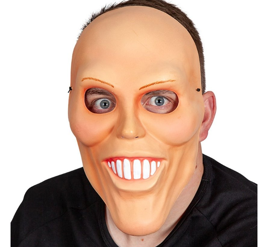 Masque d'homme bizarre   Masque effrayant avec de longues dents