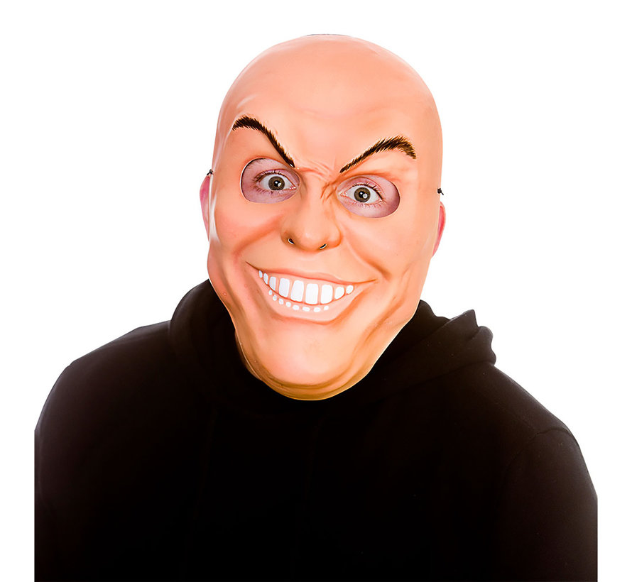 Freaky man masker   Eng masker met tanden en  kwade wenkbrauwen