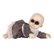 Partyline Halloween Baby met jurk | Horror baby 17 cm | Halloween decoratie