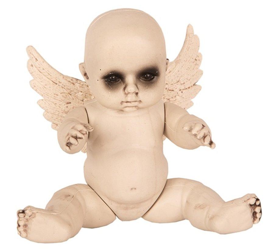 Halloween Baby met vleugels | Horror baby 28 cm | Halloween decoratie