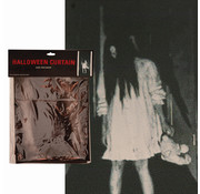 Partyline Halloween gordijn griezel meisje | Gordijn 75x160cm | Halloween decoratie