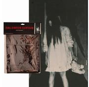 Partyline Halloween rideau fille effrayante | Rideau 75x160cm | Décoration d'Halloween
