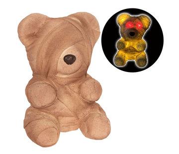 Partyline Zombie Teddybeer 23 cm met licht | Halloween Teddy 23 cm | Halloween decoratie
