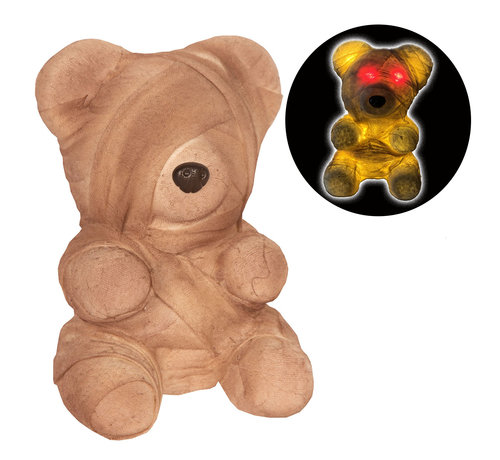Partyline Zombie Teddy bear 23 cm with light | Halloween Teddy 23 cm | Halloween decoration