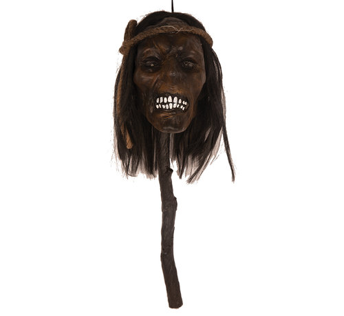 Partyline Head on stick 48 cm with light | Halloween decoration