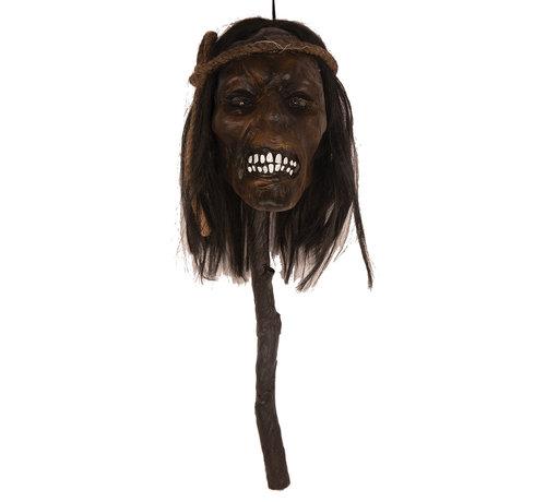 Partyline Tête coupée sur bâton 48 cm avec lumière   Décoration d'Halloween