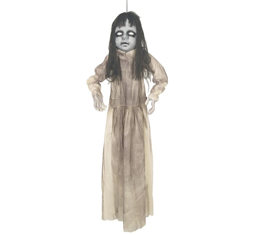Zombie girl 120 cm with light and sound | Deco Halloween hanging doll