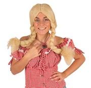Partyline Pruik Heidi | Blonde Tiroler Pruik | Pruik Oktoberfest